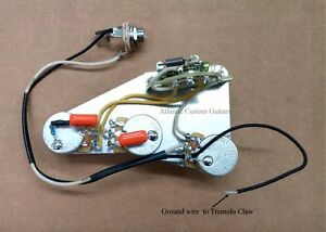 premium harness for stratocaster with greasebucket tone circuit treble bleed ebay. Black Bedroom Furniture Sets. Home Design Ideas