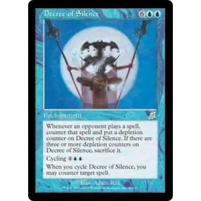 DECREE OF SILENCE Scourge MTG Blue Enchantment RARE