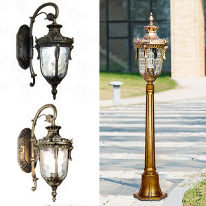 Details About Retro Garden Wall Lantern Sconce Path Lamps Wall Mount Outdoor Post Lighting