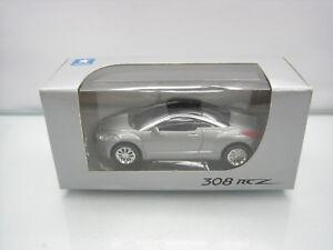 Diecast-Norev-Peugeot-308-RCZ-3-Inch-Grey-Mint-in-Box
