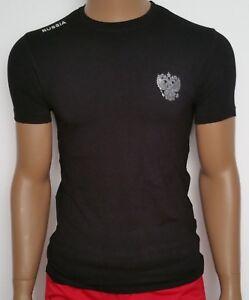 034-RUSSIA-034-T-Shirt-in-3D-Optik-mit-Wappen-schwarz-Russia-2018-WM-World-Cap