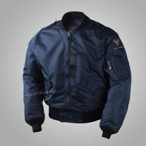 Spring-Fall-Men-Coat-USAF-Military-Jacket-L2-Army-WW2-Polit-Flight-Bomber-Casual
