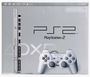 Details about Silver Sony PS2 SLIM PlayStation 2 Console Game System Used  Complete Bundle Lot