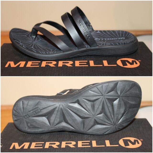 Merrell Womens Duskair Seaway Slide Leather Sandal