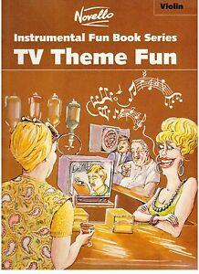 TV-Theme-Fun-for-VIOLIN-amp-PIANO-NEW-Music-Book