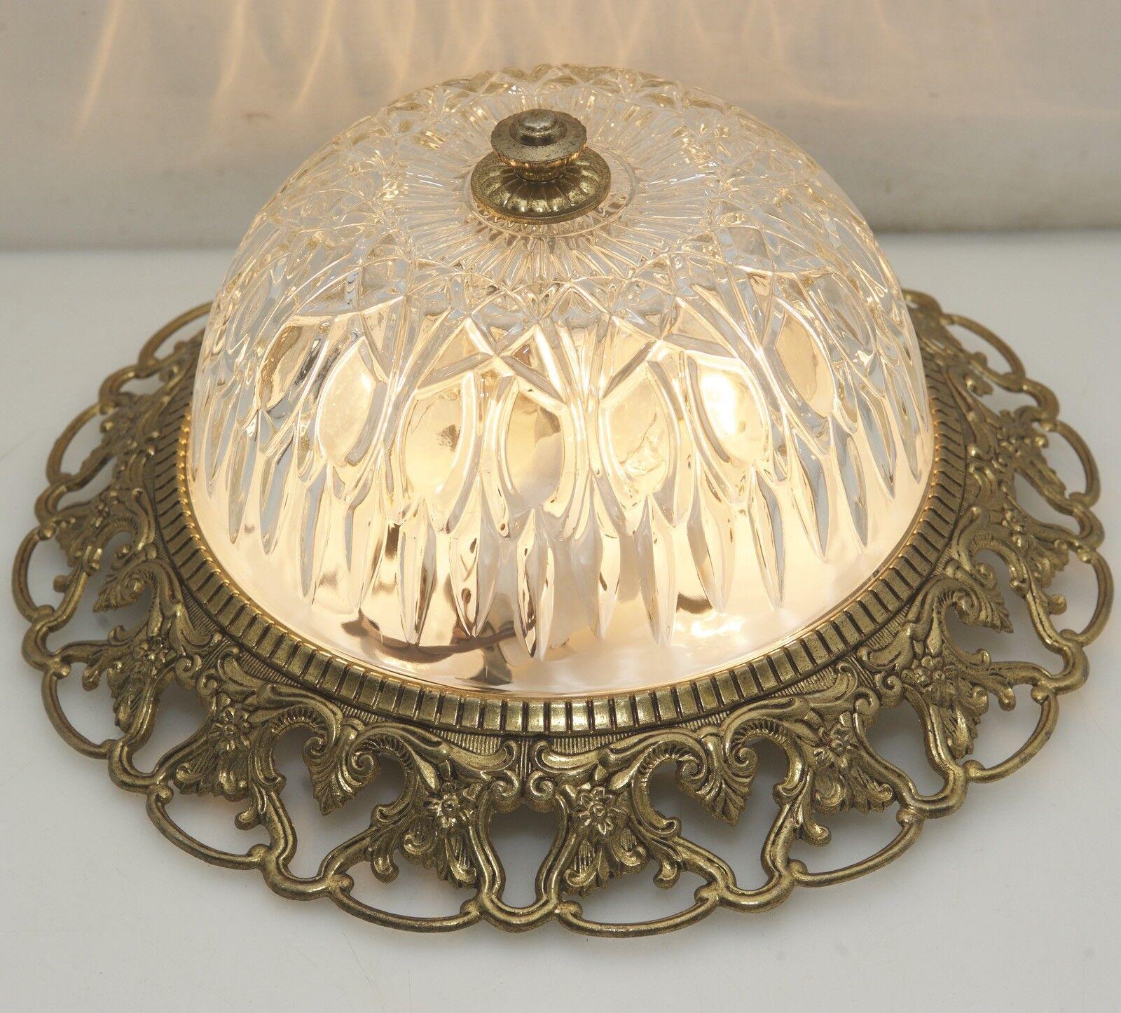 Style Antique Plafonnier Vieux Luminaire de Plafond Led O30cm Lumière Flush Mont Led Plafond 46e113