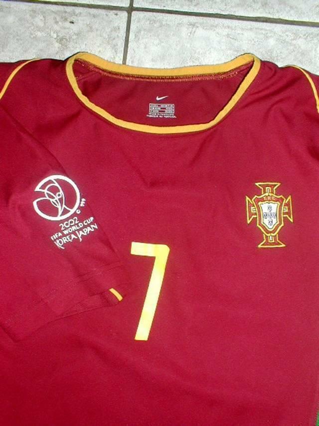 FIGO PORTUGAL WC 2002 KOREA JAPAN AUTHENTIC ORIGINAL JERSEY