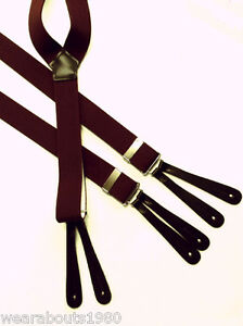 Mens-WIDE-Leather-End-Button-on-BRACES-Top-Quality-Made-In-England-Y-Shape