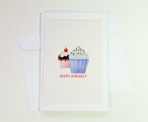 Image Is Loading Cupcake Happy Birthday Cards Greeting For Kids Mom