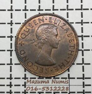 Mazuma *FC37 New Zealand QE II 1955 1 penny UNC/BU RB