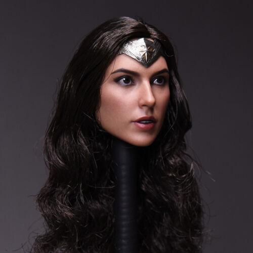 "1//6 Gal Gadot Head Sculpt For Wonder Woman SUPERHERO For 12/"" PHICEN Hot Toys USA"