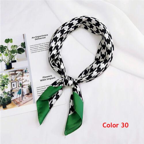 Women/'s Vintage Striped Silk Satin Square Scarf Neck Tie Hair Band Wristband`
