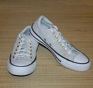 Converse Sneakers Light Gray Dots Gold