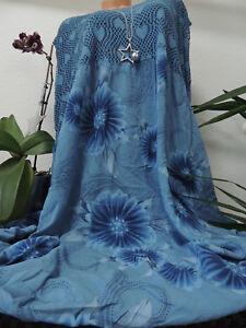 Damen Kleid Größe 52 54 56 58 60 Übergröße Kleider Maxikleid Spitze Blumen 26  eBay