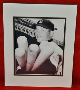 Mickey-Mantle-Matted-Photo-New-York-Yankees-Great-11-034-x-14-034-3