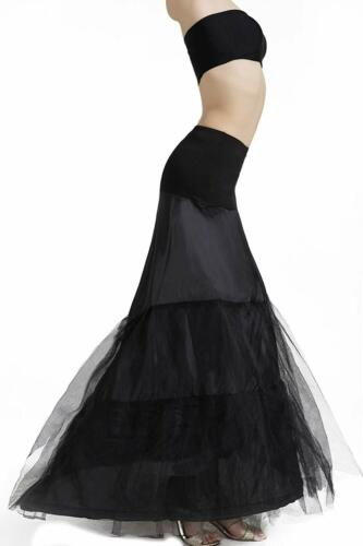 Mermaid Fishtail Petticoat Slip Full Shape Floor-Length Dress Gown Evening Party