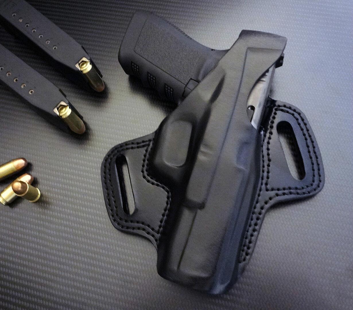 Fits Glock 17,19,22,23,31,32,34,35,37,38 extension pearl skull on black plastic