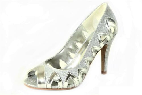 WOMENS LADIES HIGH STILETTO HEEL GLITTER PLATFORM PEEP TOE PARTY SHOES SIZE 3-8
