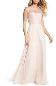 df6f84361349 Image is loading NWOT-rose-blush-cashmere-Hayley-Paige-Occasions-lace-
