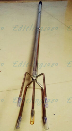 Telescopic Fish Gaff Stainless Ice Sea Fishing Spear /& Hook Lip Gripper Grabber