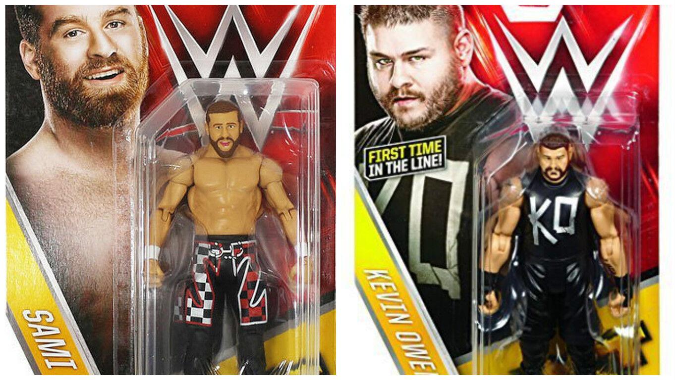 WWE sami zayn v kevin owens nxt  MATTEL basic series 61 wrestling action figure  haute qualité authentique