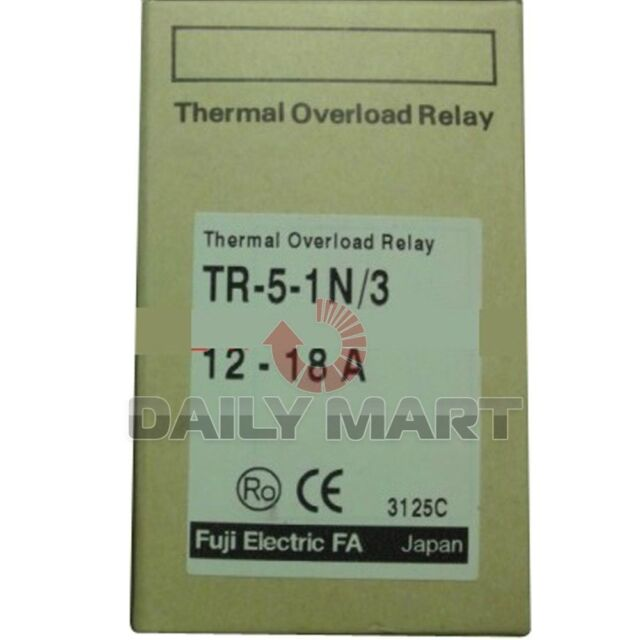 Brand New FUJI TR-5-1N/3 12-18A Thermal Overload Relay PLC FREE SHIP