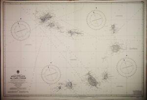 North Atlantic British Admiralty Chart 366 Arquipélago De Cabo Verde Nourishing The Kidneys Relieving Rheumatism 1820