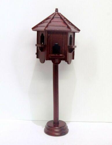 1:12 Maßstab Tumdee Puppenhaus Mahagoni Holz Freistehend Taubenschlag Garten