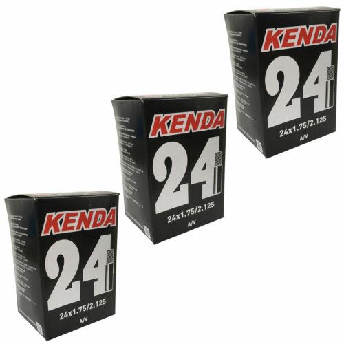 Kenda Kids Bike Inner Tubes 24 x 1.75//2.0//2.125 Schrader 3 Pack