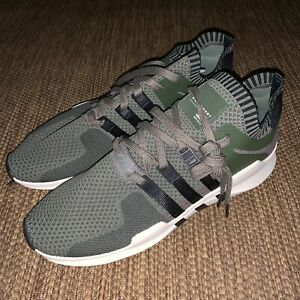 adidas-EQT-Support-ADV-Primeknit-Men-11-5-Green-Olive-Black-BY9394-Running-Shoes