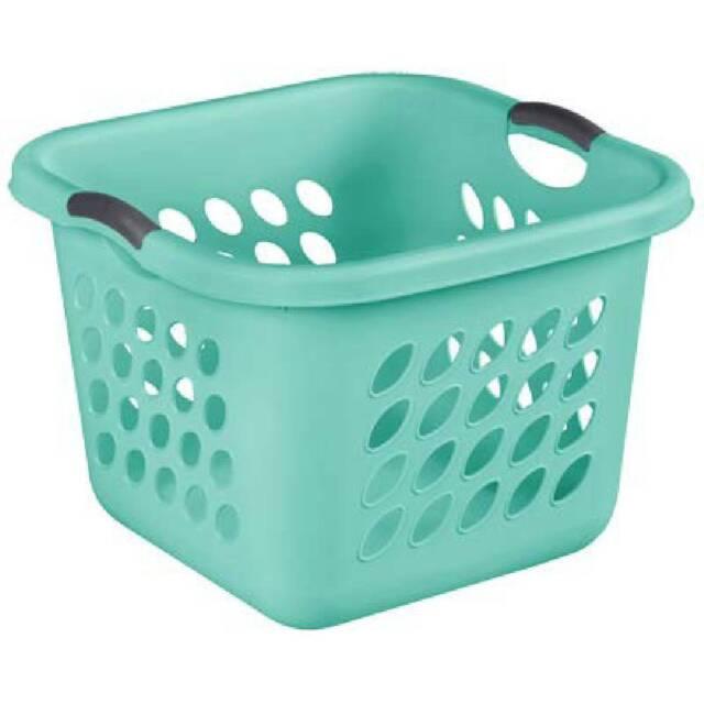 Teal Sp W Sterilite 1.5 Bushel Square Ultra Laundry Basket
