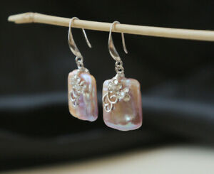 B12-Earrings-Square-Baroque-Pearl-With-Bloom-Sterling-Silver-925