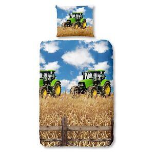 good-morning-Bettwaesche-Set-5604-Farmer-multi-bunt-Traktoren-Bulldog-Baumwolle