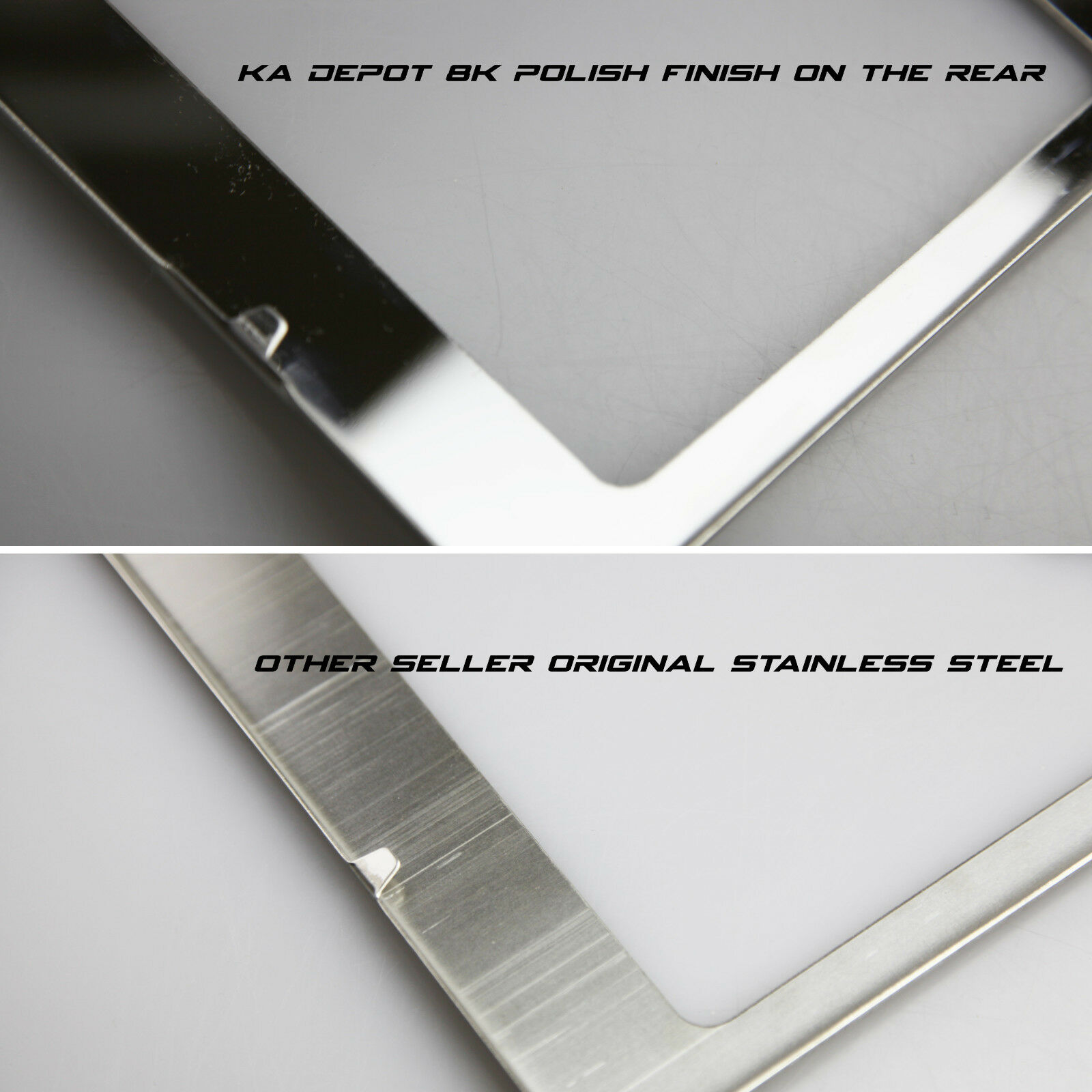 Neo Neon Chrome License Plate Frame TAHOE Laser Etched Metal Screw Cap