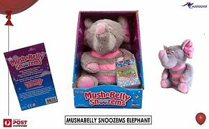 MUSHABELLY-SNOOZEMS-ELEPHANT-Breathing-Pet-Online-content-Pink-GreyBNIB