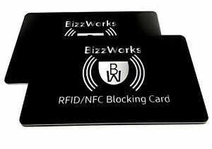 Signal RFID//NFC Blocking Card Pack of 2 Skim Guard Protector for Credit Cards