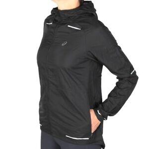 Details zu Asics Lite Show Jacket SP Performance Black Damen Laufjacke Schwarz