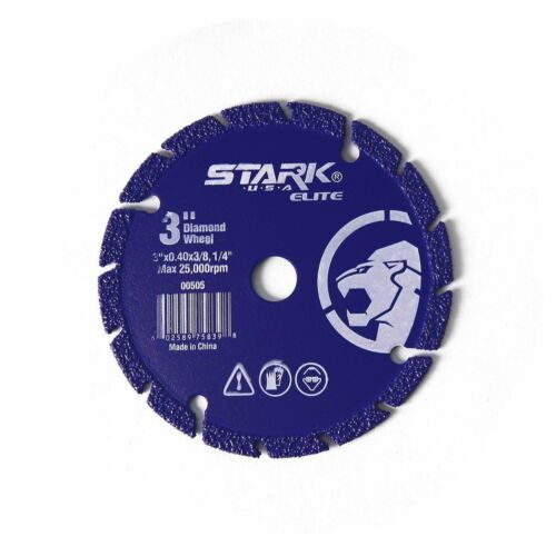 "3/"" inch Diamond Edge metal Steel Stainless Cut Off Wheel Abrasive 3//8/"" arbor"