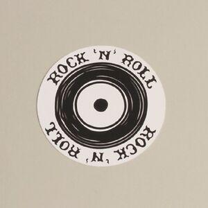 Lot de 10 Sous verre Rock'n'Roll B&W Baptême Mariage Communion