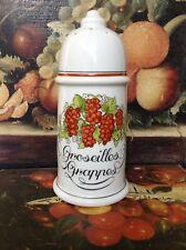 Porcelaine Auteuil : Saupoudreuse série Fruits Rouges NEUVE
