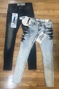6751e5f42 Image is loading VIP-Women-s-Juniors-Jeans-Lot-Acid-Wash-