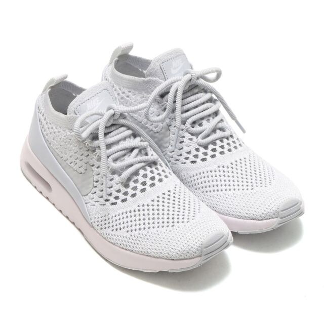 dfe5e283672a Nike Air Max Thea Ultra Flyknit Womens Size 7 Pure Platinum Shoes ...