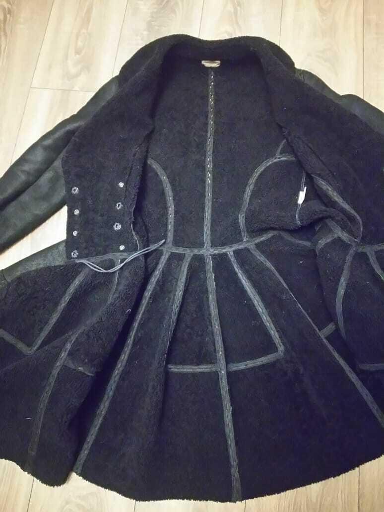 Alaia black  suede-Leather Shearling Princess Ple… - image 12