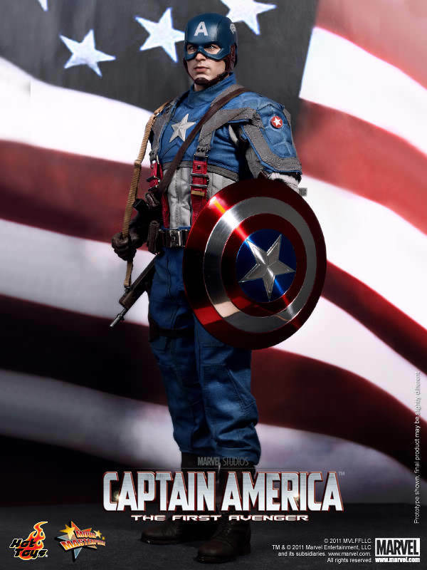 1 6 Hot Toys Captain America The First Avenger MMS156 Marvel Figure Sideshow