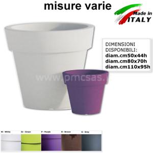 Vasi Plastica Grandi.Dettagli Su Vasi In Plastica Gemma Da Diam Cm50 A Diam Cm110 Vasi Grandi Circolari