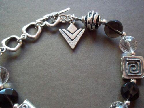 Silpada ~ smoky quartz crystal /& sterling silver bracelet ~ B1275 ~ magnifique!