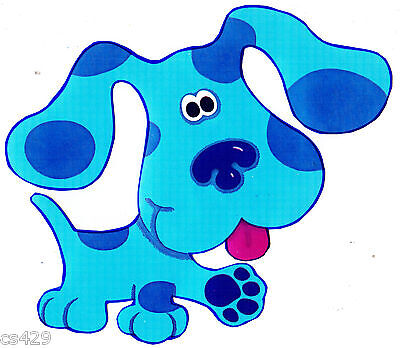 "2.5/"" BLUES CLUES ON CLOUD NICK JR CHARACTER PEEL STICK WALL BORDER CUT OUT"