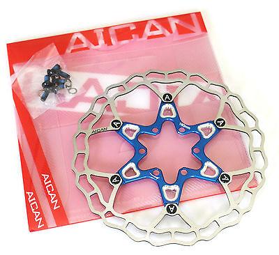 Aican Bike Floating Disc Brake Rotor 160mm Red-Gold-Black-Blue-Gray 75g!