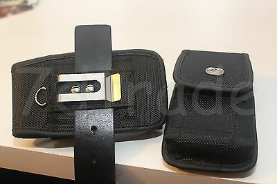 Black Nylon Belt Clip Loop Holster Pouch FIT with Otterbox Preserver Case on