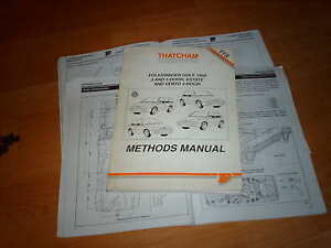 BODY-REPAIR-MANUAL-Volkswagen-Golf-inc-Estate-Vento-GTi-VR6-123-pages